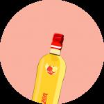 Apfelkorn shot rond