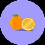 Sinaasappelgoud-rond-shotje